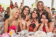 Cheap fashion rings for fun at a Pink, Gold, and White bridal shower. Nicole Klym Photography